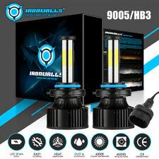6-Sides LED Headlight High Beam Bulbs 9005 2800W 420000LM Super Bright Fog Kit