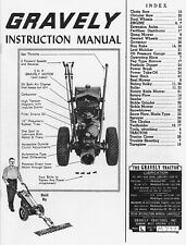 1955 Gravely Instruction Manual Ms-38-E Form No. 1-38-55 reprint