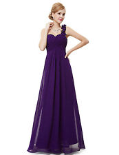 Maxi Bridesmaid Dress One Shoulder Formal Evening Homecoming Prom Gown 09768