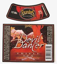 Founders Brewing DEVIL DANCER beer label MI 12oz with neck Var. #3