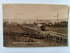 HOWTH ELECTRIC TRAMWAY to the SUMMIT DUBLIN IRELAND1920's PHOTO POSTCARD