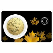 Canada 2017 Call of the Wild Elk $200 .99999 Pure Gold in Mint Card ~~ Sealed