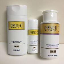 Obagi C-Rx Set C-Cleansing Gel 6 oz , C-Day Lotion 2 oz , C- Toner 6.7 oz NEW