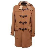 5996Q montgomery uomo BURBERRY BRIT mid camel cappotto lana jacket men