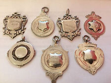 JOBLOT / COLLECTION 7 X SOLID SILVER FOBS