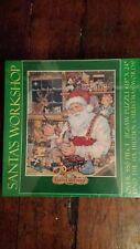 """Jigsaw Puzzle Christmas Santas Workshop 550+ Piece Puzzle Vintage 18""""X24"""" 1996"""