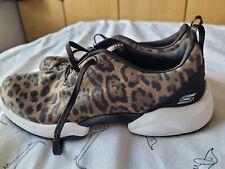 SKECHERS Sport Active Sparkly Leopard/Animal Print Trainers UK Size 4.5 EU 37.5