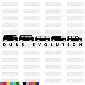 DUBS EVOLUTION T2 T4 T5 Dub Vag EURO Car/Van/Window Decal Vinyl Sticker 020