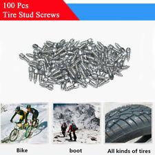 100Pcs 15mm Car Truck Tire Anti-Slip Metal Stud Spikes Screws Winter Accessories