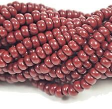 "Czech Glass Seed Beads Size 8/0 "" OPAQUE RUSTY "" Strands"