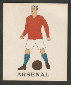 BATTOCK,s Football and Jersey cards VERY RARE ISSUE ARSENAL 1920,s issue .