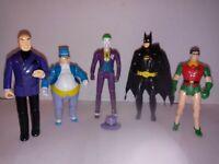 "1989 Toy Biz DC Comics Super Heroes & Batman Lot of 5 Action Figures 4"""