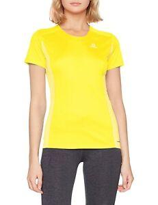 SALOMON Agile, Women's Short Sleeve Blazing Yellow Sports T-Shirt