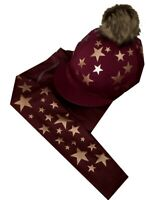 Cross Country Colours Base layer/Silk,Burgundy with Rose Gold Stars