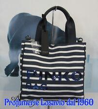 "Borsa PINKO BAG "" Villanova "" (Beige/Blue) Canvass ed Ecopelle"