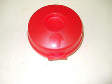 Tupperware Round Sheer Red Sandwich Bagel Salad Fruit Keeper Container 4440