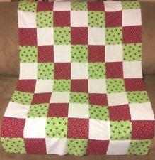 Rag quilt baby blanket toddler Dewberry Donnas garden dragonfly lady bug 36 x 36