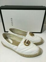 Gucci Pilar Chevron Flat Espadrille Women's white Shoes Size 35.5