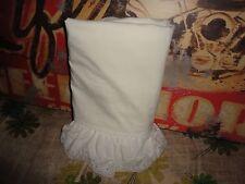 Vintage Jcp Penney Cream Eyelet Lace Double/Full Flat Sheet 80 X 90