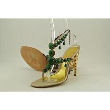 Alexander McQueen 161030 Women US 9 Gold Sandals Pre Owned  1183