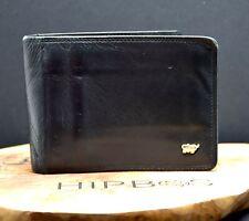 Braun Buffel Mens Bifold Leather Wallet Black