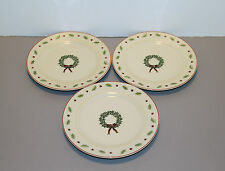 "Three Holiday Home Salad Plates 7 1/2"" - Merry Brite"