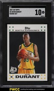 2007 Topps Basketball Kevin Durant ROOKIE RC #2 SGC 10 GEM MINT