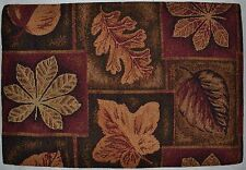 Tapestry Placemat~Fall Leaf~Harvest Orange~Autumn Rust~Thanksgiving Brown~NEW