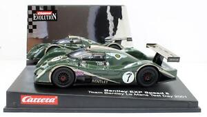 """CARRERA 1:32 SCALE 25453 EVOLUTION BENTLEY EXP SPEED 8 LE MANS 2001 """"TEST"""""""