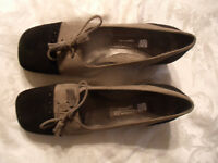 Aerosoles Black/Tan Suede Pumps Women Shoes US 6.5 B// EU 4.5 New No Box