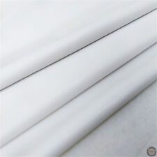 Faux Smooth Leather PVC Leathertter Waterproof Vinyl Fabric Craft Material White by The Meter (137cm Width)