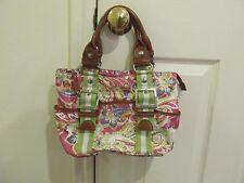 Tyler Rodan {Women's HandBag} Floral Design / Pink and Green