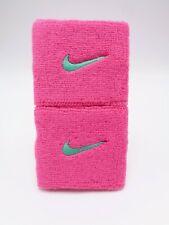 "Nike Swoosh Wristbands Pink Pow/Emerald Glow 3"""