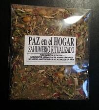 WHOLESALE LOT X10 ⛤⛤⛤   SAHUMERIO RITUALIZADO PAZ EN EL HOGAR ⛤⛤⛤