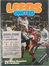 More details for leeds united v liverpool 1974/75 with ticket