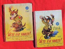 La Bête est morte 2 volumes : Tomes 1 et 2. CALVO. EO Editions GP 1945.