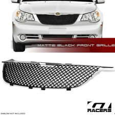 FOR 2007-2010 CHRYSLER SEBRING MATTE BLACK LUXURY MESH FRONT BUMPER GRILL GRILLE