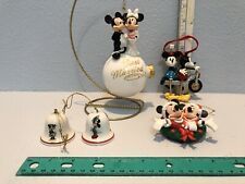 LOT 5 VINTAGE MICKEY AND MINNIE MOUSE DISNEY WDW/STORE CHRISTMAS ORNAMENTS