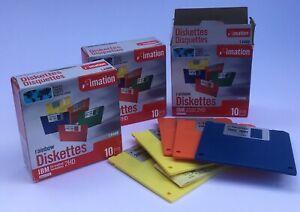"25 IBM Imation Rainbow Diskettes 1.44MB IBM Floppy Disk 3.5"" 2HD"