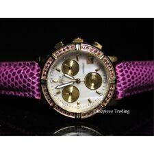 Invicta 10314 Wildflower Quartz MOP Dial Purple Leather Women's Watch SET
