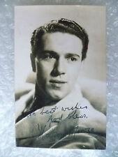 Postcard- KIERON MOORE with printed Autograph (Irish Film & Television Actor)