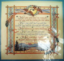 "BUCILLA COUNTED CROSS STITCH KIT #41335 APACHE MARRIAGE BLESSING 16X14."" PICTURE"