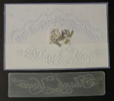 THANK YOU fancy script Border Accent embossing folder + Stampin Up