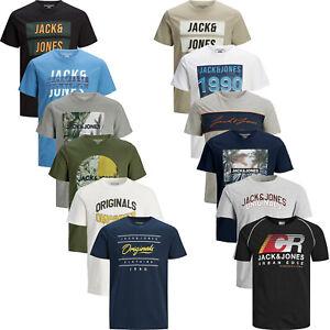 Mens T Shirt Jack & Jones TShirt Short Sleeve Cotton Casual Top T-Shirt Tee