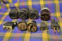 Lot of 9 Vintage EAGLE Cord Ends except 1 Unidentified