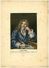 PORTRAIT DE MOLIERE Illustration des œuvres de Molière par François BOUCHER