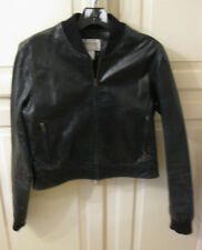 HUGO Buscati Collection Leather Jacket Black Sz Medium