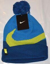 Nike  Beanie Winter Pom Hat - Boy's Gym Blue Size 8 -20  Free Shipping   New