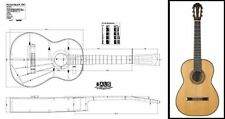 Plan of a 1967 Hermann Hauser II Classical Guitar - Full Scale Print
