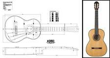 Plan of a 1967 Hermann Hauser II Classical Guitar - Full Scale Print